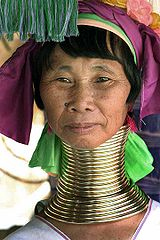160px-Kayan woman with neck rings