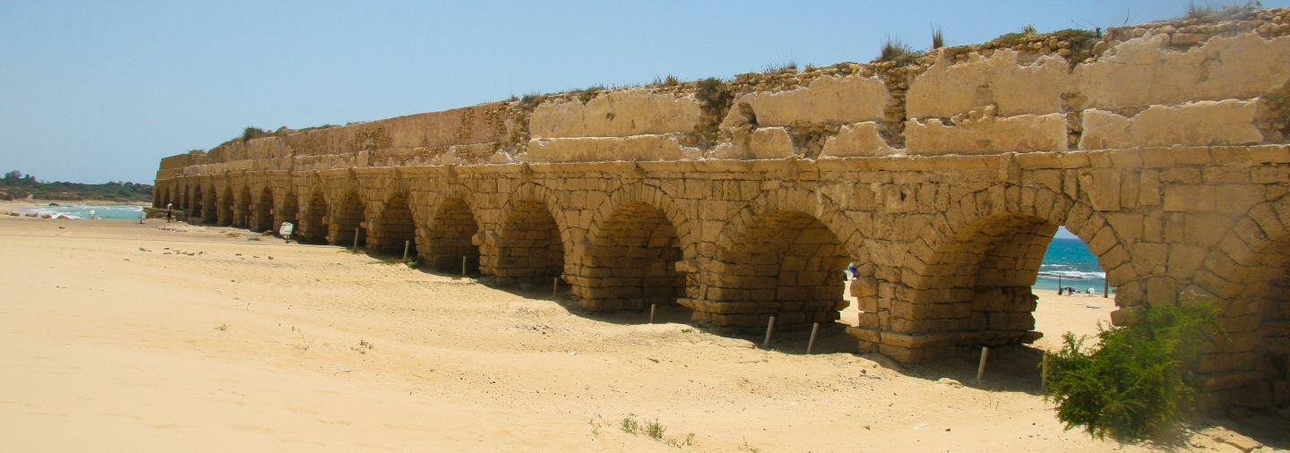 Photo by: Dana Friedlander, Caesarea Aqueduct